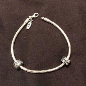 "Pandora 8.1"" bracelet with clips"